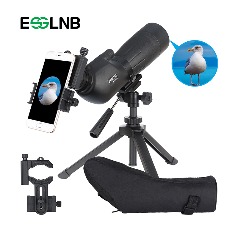 20-60x60 Spotting Scope For Hunting Waterproof Monocular Telescope FMC Optical Lens With Adjustable Tripod & Phone Adapter 2017 new arrival all optical hd waterproof fmc film monocular telescope 10x42 binoculars for outdoor travel hunting