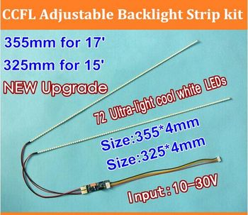 """10PCS 17"""" 355mm 10pcs 15"""" 325mm new cool white led backlight strip kit,Update your ccfl lcd screen panel monitor to led bakcligh"""
