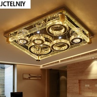 Led ceiling light rectangle crystal lamp modern brief luxury of the bubble crystal column lamps