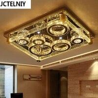 Luz de techo llevada rectángulo lámpara de cristal moderna breve lámparas de lujo de la columna de burbujas de cristal