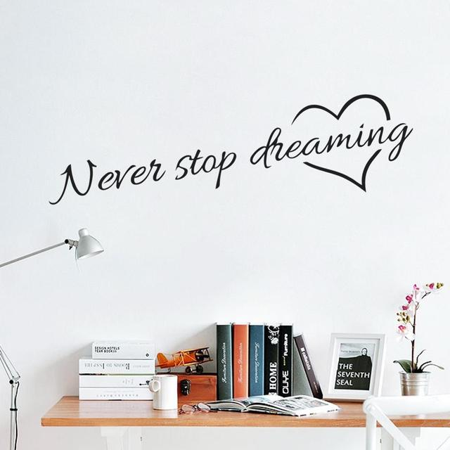 Never Stop Dreaming 58*15cm Wall Area 2