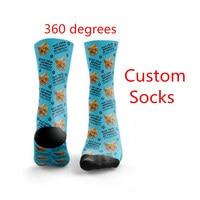 High Quality Fashion Custom 3D Print DIY Custom Design Men/Women Unisex Long Socks Design Birthday Sock 20 Pairs Drop Shipping