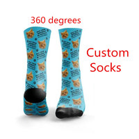 High Quality Fashion Custom 3D Print DIY Custom Design Men/Women Unisex Long Socks Design Birthday Sock 20 Pairs Drop Shipping
