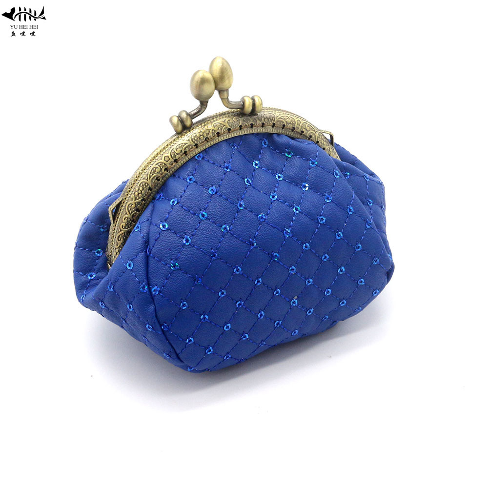 Coin Purses & Holders Gentle 2018 New Mini Fashion Vintage Kiss Lock Women Coin Purse Wallet Bag Really Lady Girl Dots Wallets Card Hold Bags Free Shipping Great Varieties