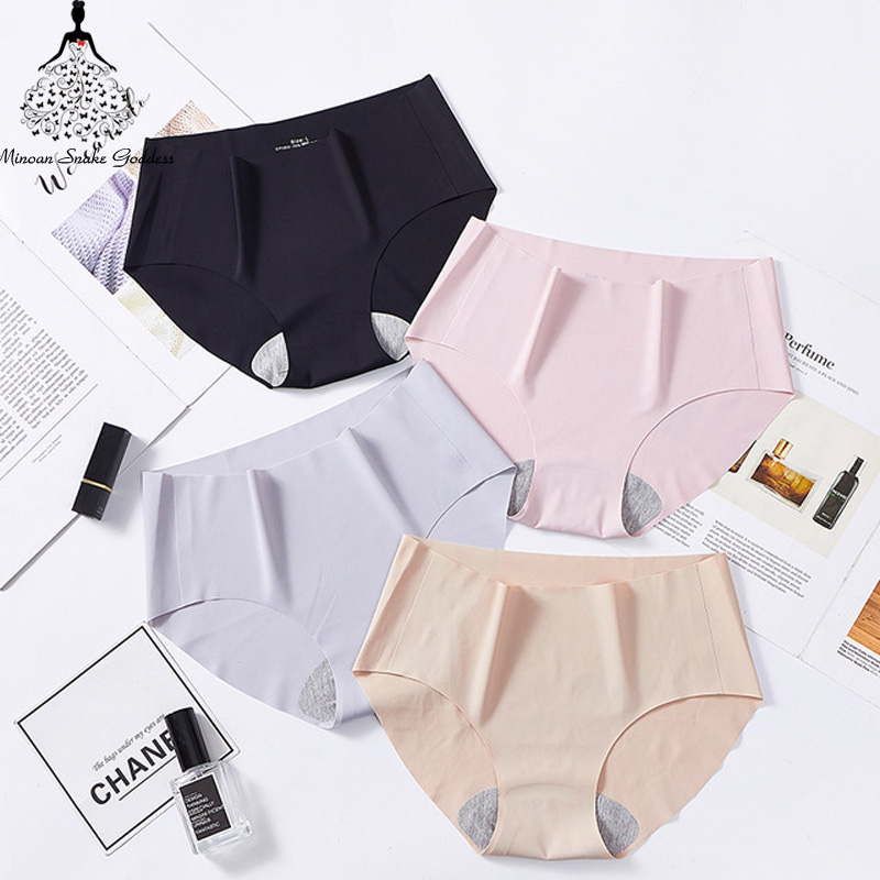 Sexy Women Cotton Briefs Ultra-thin Seamless   Panties   Pure Color Low-Rise Breathable   Panties   Women Underwear Briefs