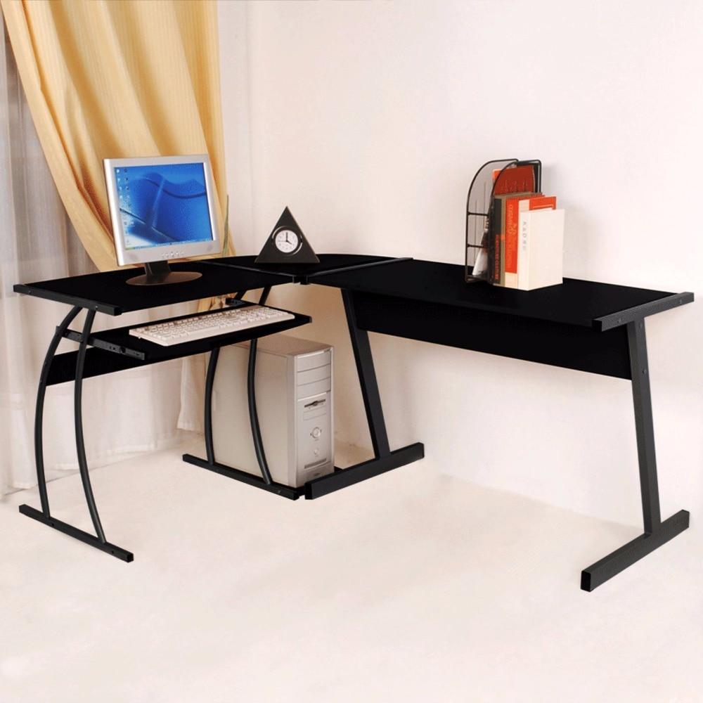 New L-shape Designer Computer Corner Desk PC Study Table Home Office Furniture