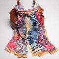105069 170x52 см 4 цвета 2017 Последним Muberry Шелковые Шарфы, креп-сатин равнина прямоугольник шарф, бесплатная Доставка, шелковые шарфы
