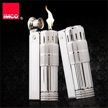 원래 IMCO 라이터 오래된 가솔린 라이터 정품 스테인레스 스틸 담배 라이터 시가 화재 연탄 담배 가솔린 라이터