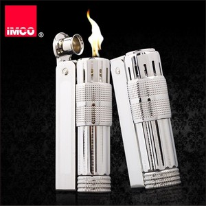 Image 1 - Original IMCO Leichter Alten Benzin Leichter Echtem Edelstahl Zigarette Leichter Zigarre Feuer Brikett Tabak Benzin Feuerzeuge