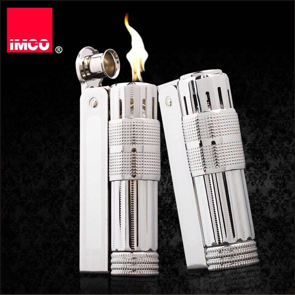 Original IMCO Lighter Old Gasoline Lighter Genuine Stainless Steel Cigarette Lighter Cigar Fire Briquet Tobacco Petrol Lighters-in Cigarette Accessories from Home & Garden