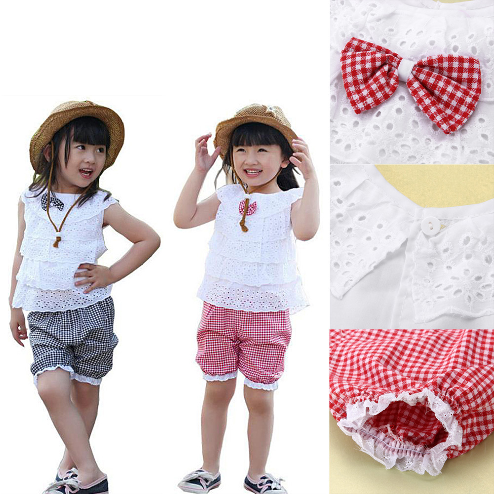 Baby Clothing Set 2pcs Toddler Baby Girls Summer Outfit Sleeveless T-shirt Shorts Kids dresses Clothes Gift Set 0-2 years flower sleeveless vest t shirt tops vest shorts pants outfit girl clothes set 2pcs baby children girls kids clothing bow knot