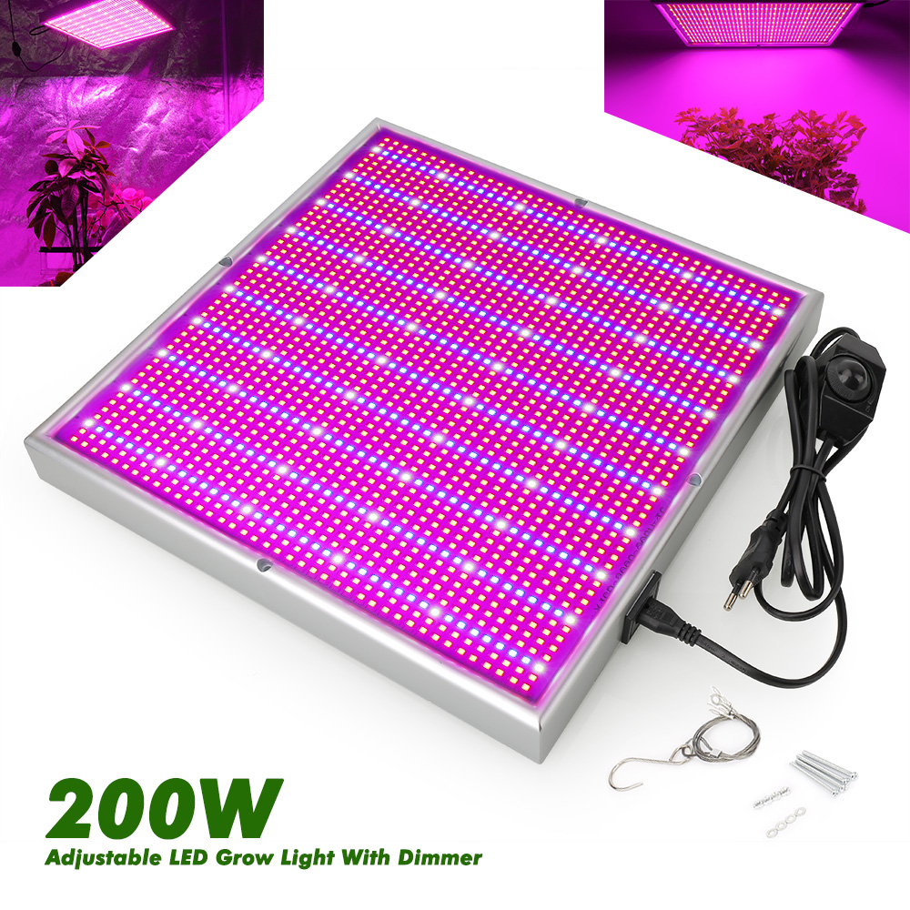 Dimmable 200W 85-265V LED Plant Lamp 2000 leds High Power Grow Light For grow tent indoor greenhouse plants flower hydroponic hot sale 12w led plant grow lamp high bright appliable for indoor planting grow box grow tent lighting long lifespan