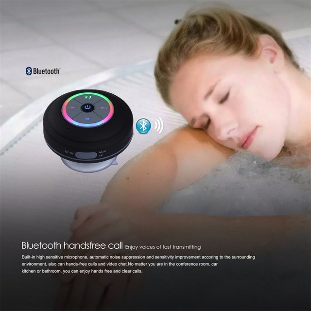 Nasin Portable Subwoofer Shower Waterproof Wireless Bluetooth Speaker Car Handsfree Call Music Suction Mic For IOS Android Phone 2