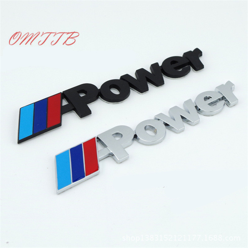 Car Styling Metal M POWER MPOWER Logo Car Rear Trunk Badge Decal Emblem Sticker For BMW M3 M5 M6 F10 F30 Sport Auto Accessories цена