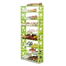 Multilayer dust cloth shoe cupboard reinforcement assembly simple combination of creative rack Specials