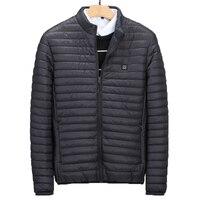 2018 Winter Mens Warm Jacket 5XL Washable Casual Coat 5V USB Heating Electric Cotton Padded Coat Men Outwear Inner BG6631