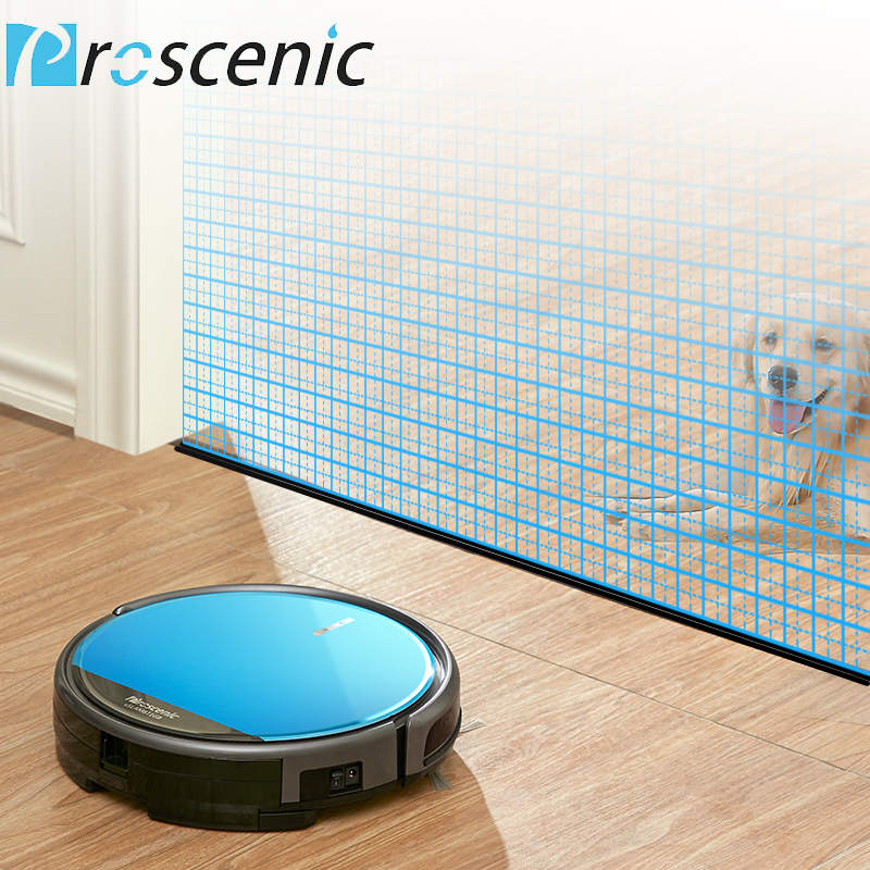 Proscenic 811GB Robotic Vacuum Cleaner Low Noise Slim Design Electric Control Water Tank Robot Aspirador with Boundary Magnetic