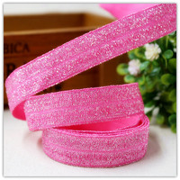 16 mm dot elastic ribbons 1 y, free shipping, 5/8, pure color, mei red, DIY clothing hair accessory materials wholesale sales