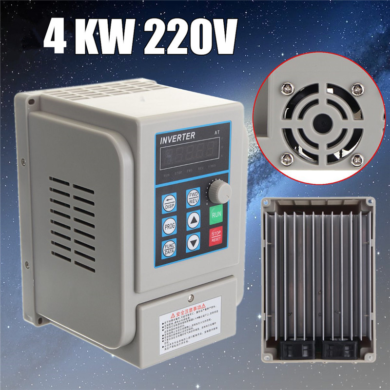 цена на 220V 4KW 50HZ/60HZ 5HP AC Variable Frequency Drive Converter VFD Converter Speed Controller inverter