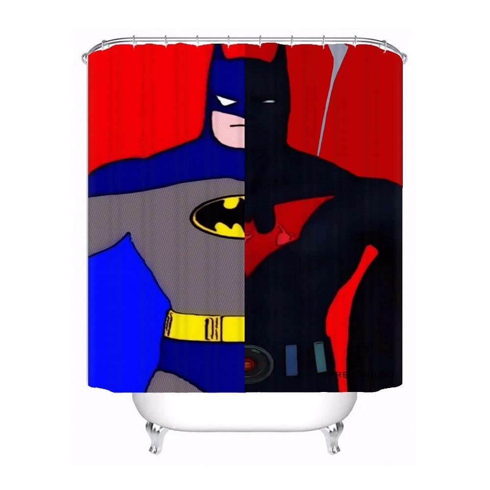 Пользовательские Бэтмен Комиксов поп Книги по искусству Водонепроницаемый душ Шторы Главная Ванна Ванная комната s крючки полиэфирной тка...