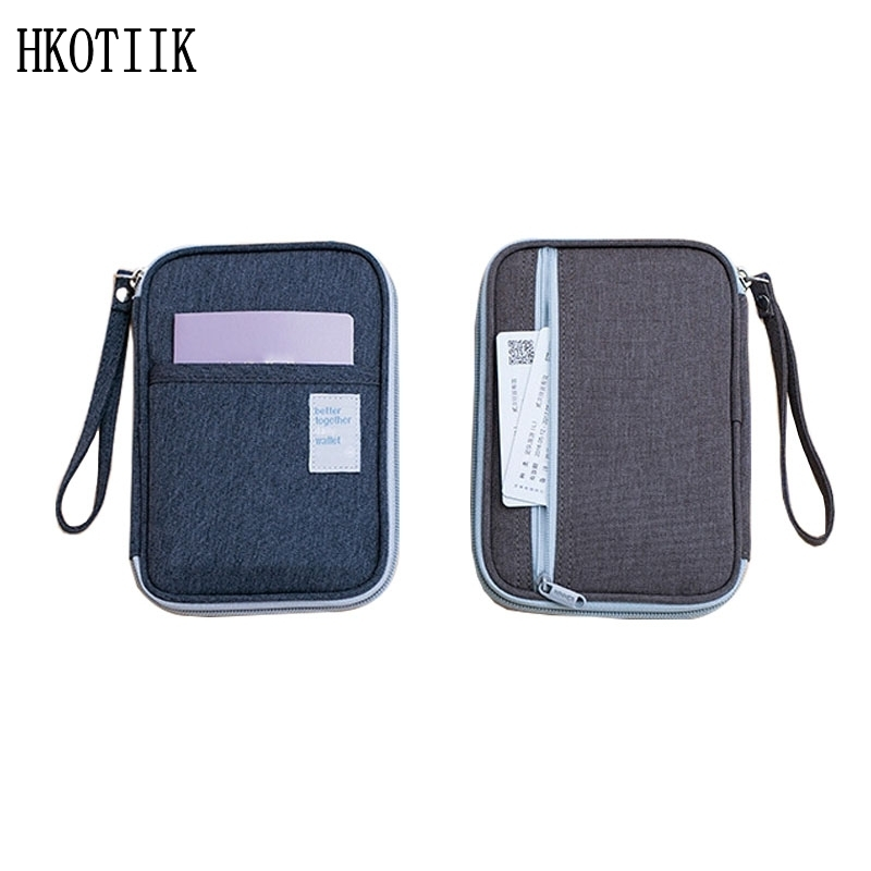 Fashion men and women travel organizer passport holder card package Oxford cloth waterproof file bag multi-pocket card package lxhysj fashion print passport bag lady travel passport file credit card identity card holder organizer multi functional bag