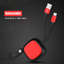 Retractable USB Phone Cable for iph X 8 7 6S Plus 5S Data Sync Charging  Android typr-C Micro cable