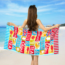 70*150CM Double-sided Printing Beach Towel Superfine Fiber 100% PolyesterSwimming Washcloth Comfortable Safe Materials