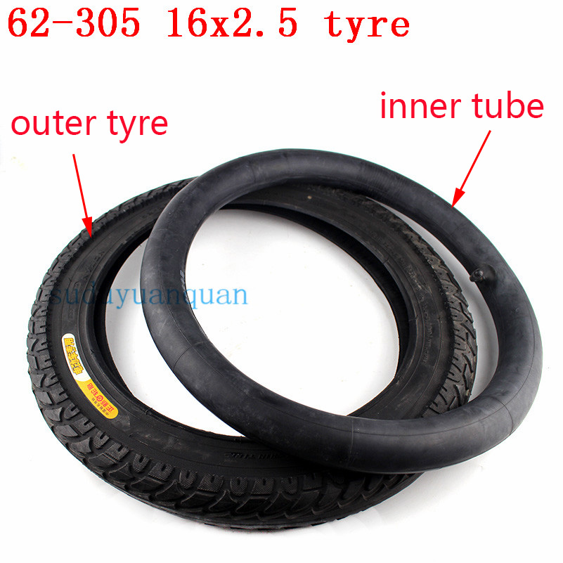 16x2.50 64-305 inner outer tire fits Electric bike Boy's bike SCHWINN Convertible tricycle 16x2.5 16*2.5 Electric Bicycle tyre