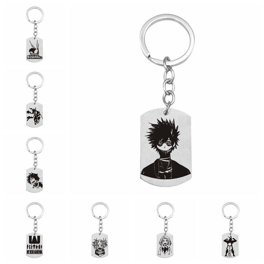 My Hero Academia keychains Midoriya Izuku Bakugou Katsuki Ornaments Cute Key Ring Stainless Steel Key Chains Jewelry
