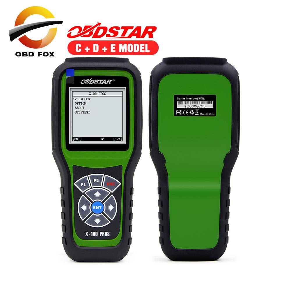 Prix pour 2017 Top vente OBDStar Auto Clé Programmeur X100 PROS C + D + E modèle x-100 pros de correction D'odomètre outil livraison gratuite