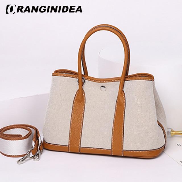 Women Handbags Clemence Fashion Top-handle Tote Bags Canvas Large Capacity Shoulder Crossbody Bag Lady Travel Shopping Bag
