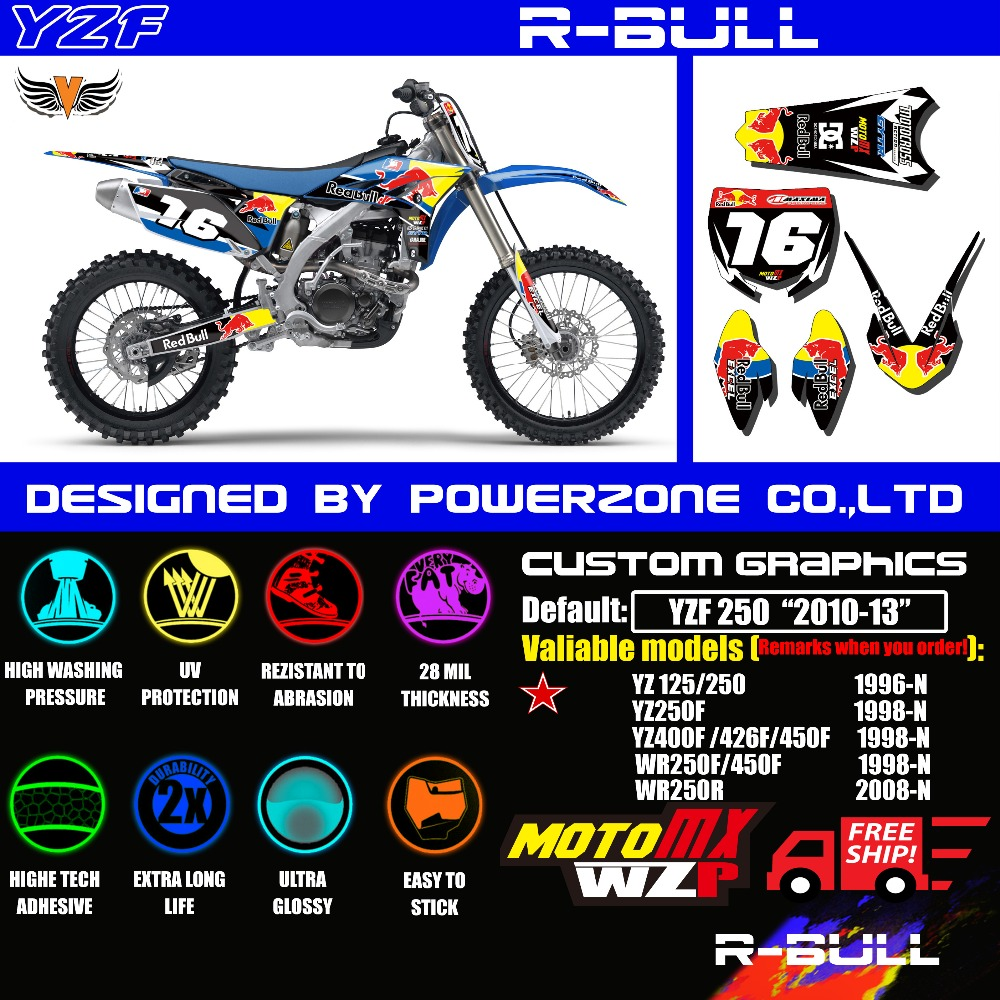 Online Get Cheap Motor Background Aliexpresscom Alibaba Group - Red bull motorcycle custom stickers