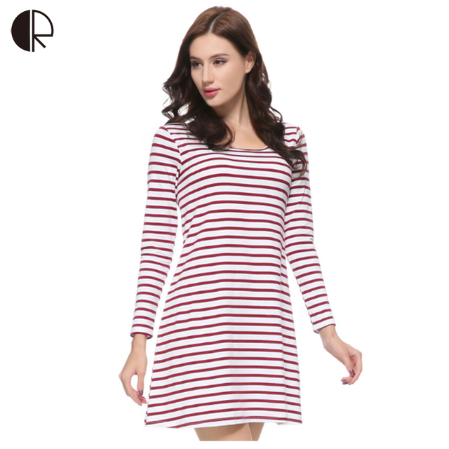 Women's Nightgown 100% Cotton Sleepwear Bust Padded Dress Plus Big Size Full Sleeve Striped Lounge Free shipping , AP398