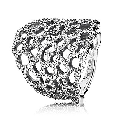 Authentic 925 Sterling Silver Ring Openwork Shimmering Lace With Crystal Ring For Women Wedding Party Gift Fine Diy JewelryAuthentic 925 Sterling Silver Ring Openwork Shimmering Lace With Crystal Ring For Women Wedding Party Gift Fine Diy Jewelry