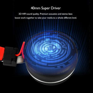 Image 5 - Oneodio A8 Bluetooth אוזניות עם מיקרופון LED אור סופר עמוק בס מתכת מתקפל ספורט Bluetooth 4.2 אוזניות אלחוטיות