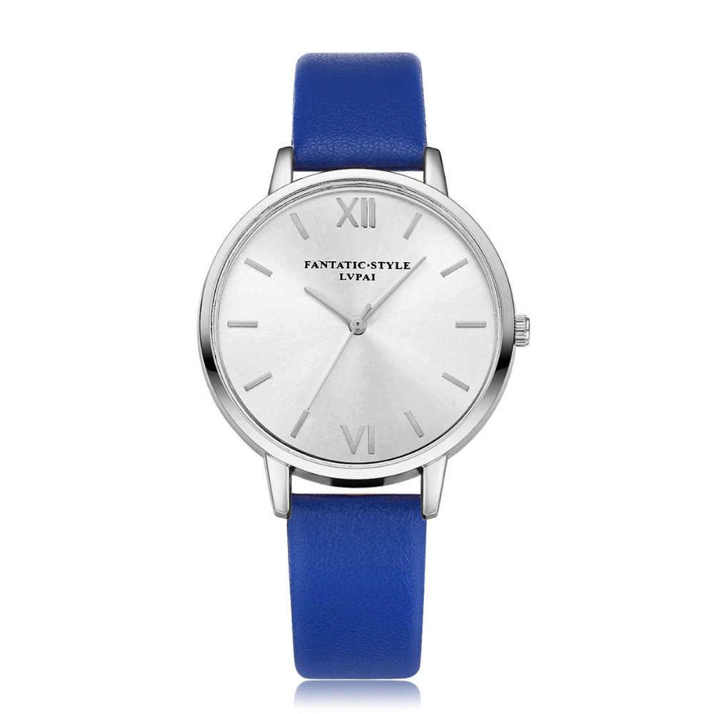 Marque de luxe argent femmes mode robe Quartz montre horloge montre-Bracelet Bracelet montre en cuir de haute qualité dame Quartz montre P40