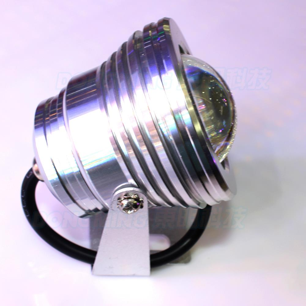 5pcs 10w 12v Convex Lens Underwater Led Light Aluminum