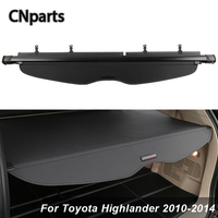 CNparts Car Rear Trunk Cargo Cover For Toyota Highlander 2010 2014 Car styling Black Security Shield Shade Auto Accessories