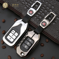 remote key For Honda CRV Civic Accord XRV VEZEL Key Case Saver Cover Key Shell Storage Bag Car Key Remote Control Protective Holder Case (1)