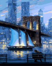 "DIY Painting By Number – Bridge (16""x20"" / 40x50cm)"