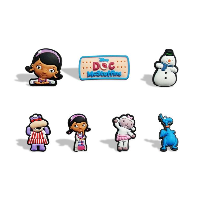 100 Stks/partij Doc Mcstuffins Magneten Schoolbord Magneten Koelkast Stickers Kids Educatief Speelgoed Reizen Accessoires Bagage Tags