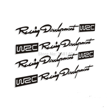 4 x Newest  WRC Car Door Handle Stickers and Decals – Reflective Rally Car Stickers for Toyota VW Skoda KIA Lada Opel