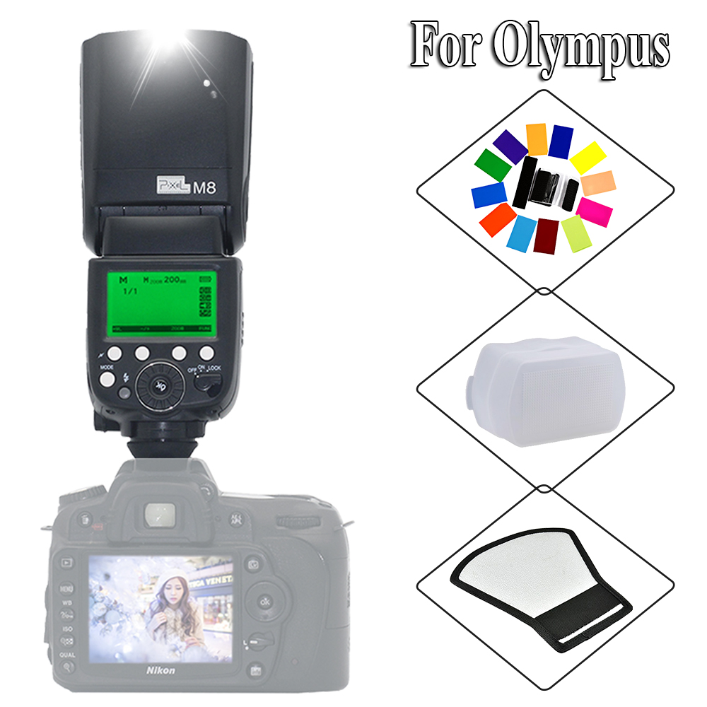 Pixel M8 Wireless Built-in receive Flash Light Speedlite For Olympus E5 E3 E30 E300 E620 E520 E420, E450 E-P2 E-PL2 DSLR CamerasPixel M8 Wireless Built-in receive Flash Light Speedlite For Olympus E5 E3 E30 E300 E620 E520 E420, E450 E-P2 E-PL2 DSLR Cameras
