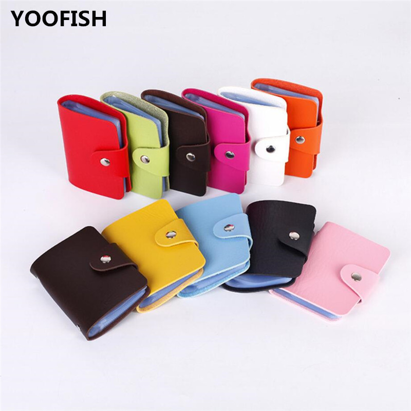 High Quality Passport Cover Women's Handbags PU Leather Card Holder Credit Card Holder   Visiting Cards Bag  Men's Card Wallet