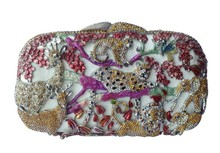 Bling Animal Purses For Women Rhinestone Crystal Clutch Bag