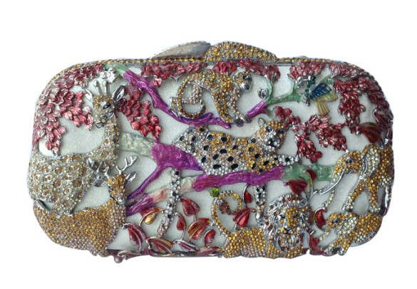 Bling Animal Purses For Women Rhinestone Crystal font b Clutch b font Bag