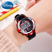 Children Sport Multifunction 5ATM Waterproof Rubber Digital Calendar Alarm Watches Disney Teen Student Clocks Mickey Hour Gift Children's Watches     -