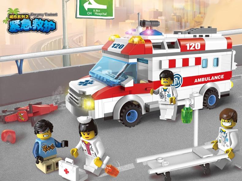 New Enlighten city Ambulance Nurse Doctor First Aid fit legoings city figures friends Building Block Bricks diy Toys kid gift вытяжка подвесная indesit h 151 ix серебристый