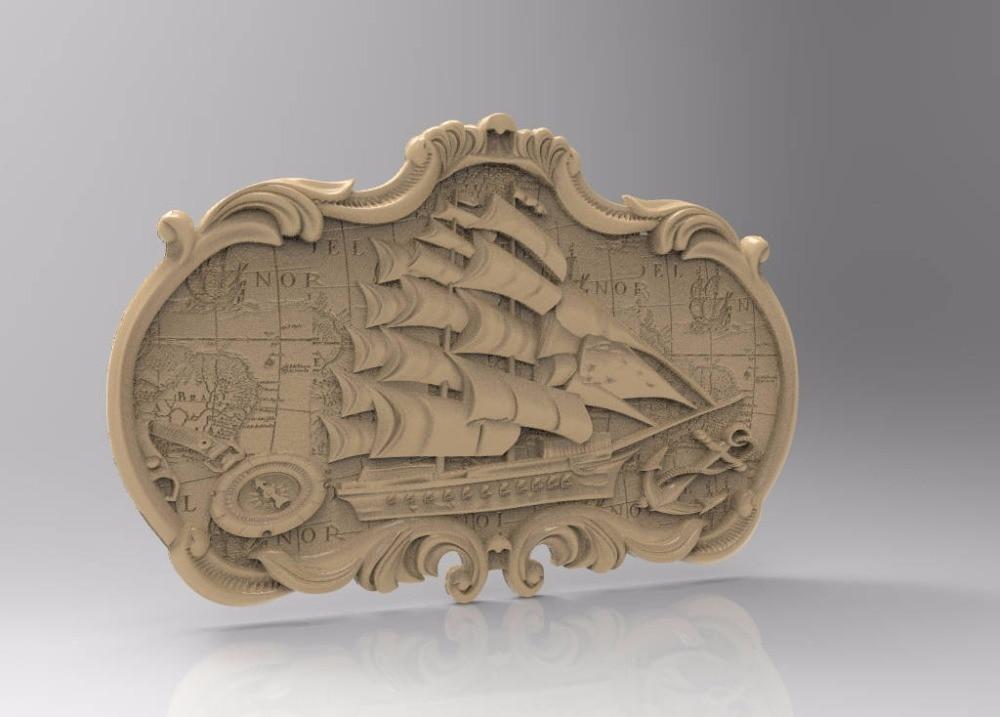 3d STL Model For CNC Router Engraver Carving Machine Relief Artcam Aspire