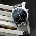 Творческий мода роскошных людей женщин стальной браслет кварцевые наручные WatchesWristWatch браслет свободного покроя